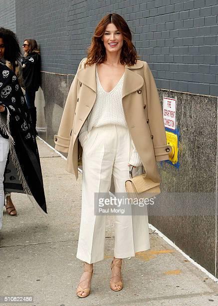 Model Hanneli Mustaparta is seen around Fall 2016 New York Fashion Week on February 17 2016 in New York City