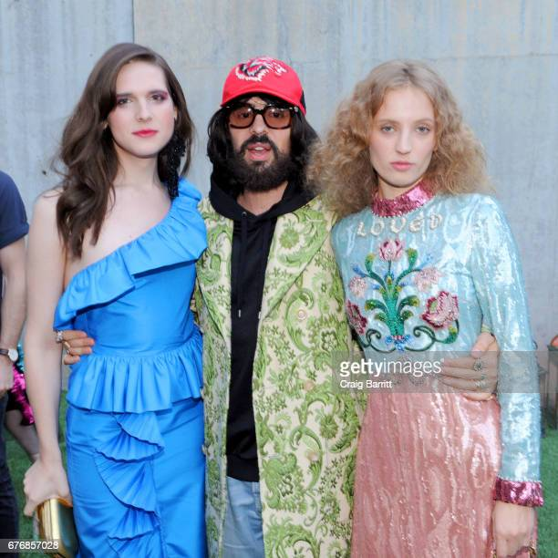 Model Hari Nef Gucci Creative Director Alessandro Michele and Artist Petra Collins attend the Gucci Bloom Fragrance Launch at MoMA PS1 on May 2 2017...