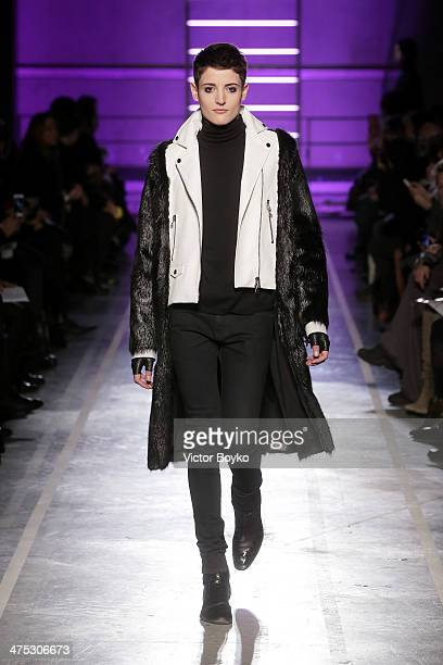 Model Harry Brant walks the runway during the IRFE by Olga Sorokina show as part of the Paris Fashion Week Womenswear Fall/Winter 20142015 on...