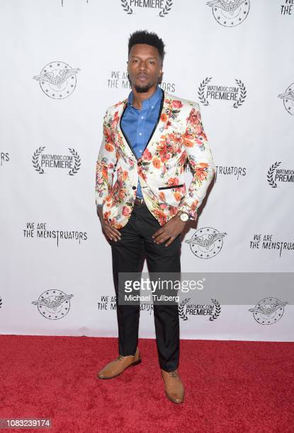 Model Harvey McMurray attends the Los Angeles premiere of We Are The Menstruators at El Cid on December 15 2018 in Los Angeles California