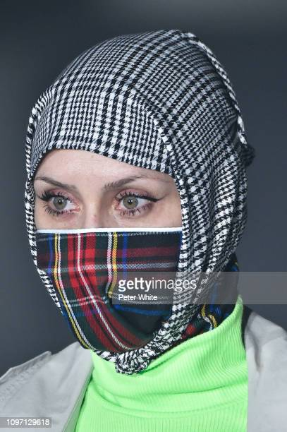 A model hat detail3 walks the runway during the Andrea Crews Menswear Fall/Winter 20192020 show as part of Paris Fashion Week on January 19 2019 in...