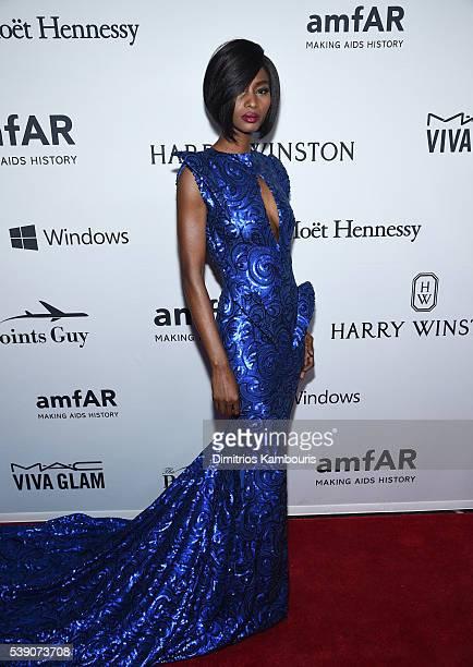 Model Hawa Diawara attends the 7th Annual amfAR Inspiration Gala at Skylight at Moynihan Station on June 9 2016 in New York City