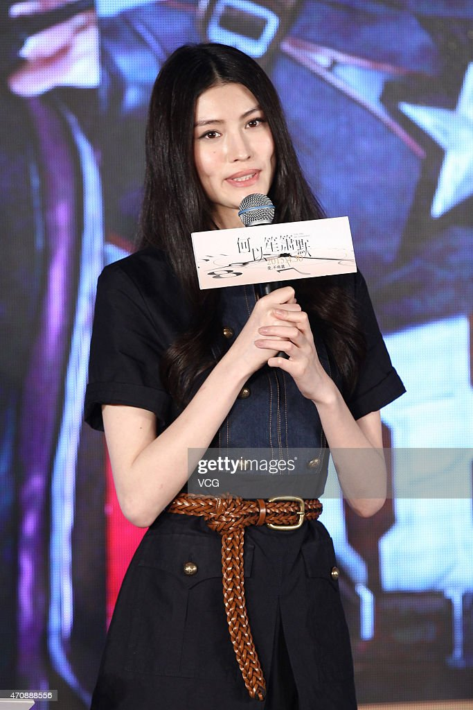 Model He Sui attends premiere press conference of director Huang Bin's new film 'Silence Seperation' on April 23, 2015 in Beijing, China.