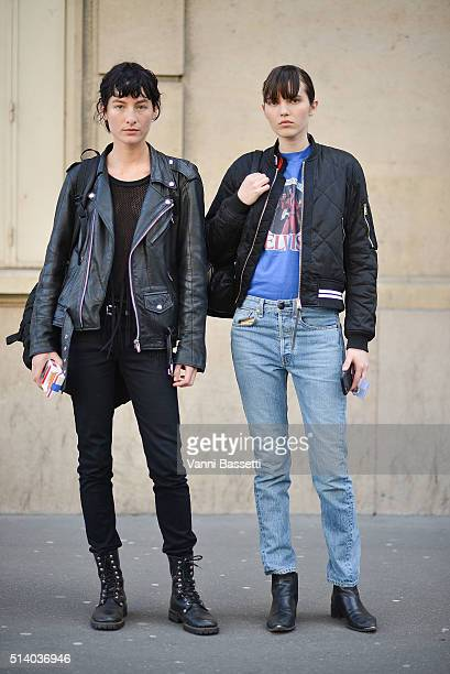 Model Heather Kemesky poses after the John Galliano show at the Lycee Carnot during Paris Fashion Week FW 16/17 on March 6 2016 in Paris France