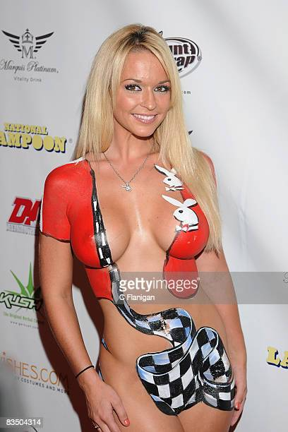Model Heather Rene Smith attends National Lampoon's A Night of Fantasy with The Girls Next Door Ludacris at The Playboy Mansion on September 6 2008...
