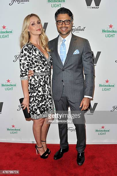 Model Heidi Balvanera and actor Jaime Camil arrive at TheWrap's 2nd Annual Emmy Party at The London Hotel on June 11 2015 in West Hollywood California