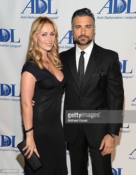 Model Heidi Balvanera and actor Jaime Camil attend the AntiDefamation League's 2015 Entertainment Industry Dinner at The Beverly Hilton Hotel on...
