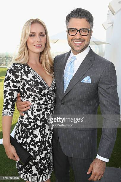 Model Heidi Balvanera and actor Jaime Camil attend TheWrap's 2nd annual Emmy party at The London Hotel on June 11 2015 in West Hollywood California