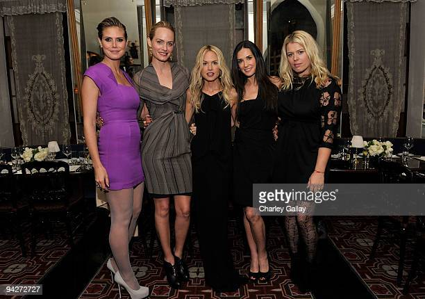 **EXCLUSIVE** Model Heidi Klum actress Amber Valletta stylist Rachel Zoe actress Demi Moore and photographer Amanda de Cadenet attend Roland Mouret's...