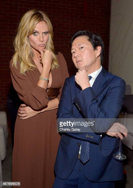 Model Heidi Klum and actor Ken Jeong attend Hollywood Stands Up To Cancer Event with contributors American Cancer Society and Bristol Myers Squibb...