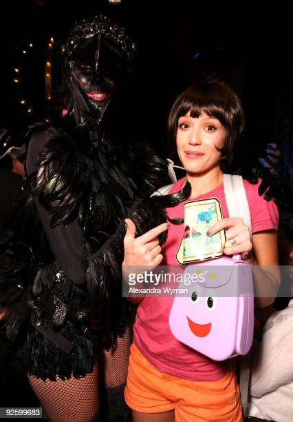 Model Heidi Klum and actress Jessica Alba attend Heidi Klum�s 10th Annual Halloween Party Presented by MSN and SKYY Vodka held at the Voyeur on...