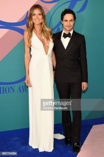 Model Heidi Klum and fashion designer Zac Posen attend the 2017 CFDA Fashion Awards at Hammerstein Ballroom on June 5 2017 in New York City