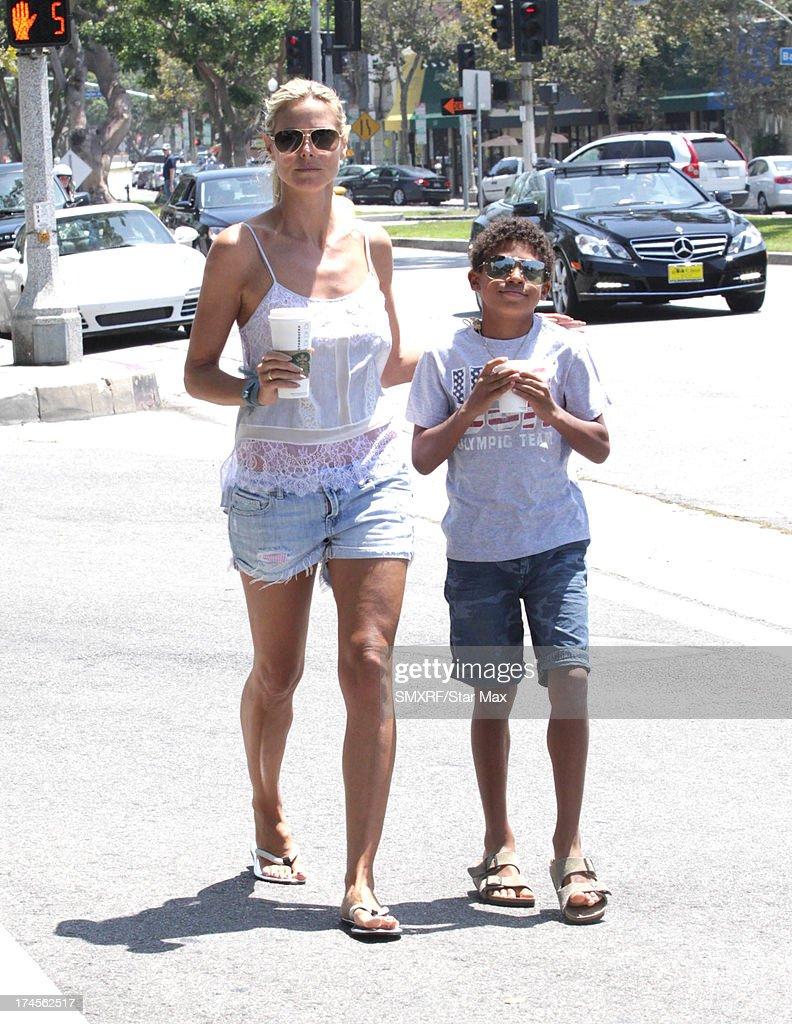 Model Heidi Klum and Henry Samuel as seen on July 27, 2013 in Los Angeles, California.