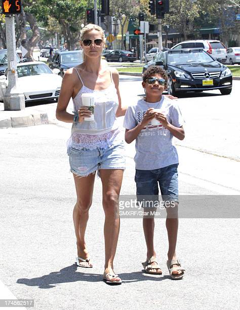 Model Heidi Klum and Henry Samuel as seen on July 27 2013 in Los Angeles California