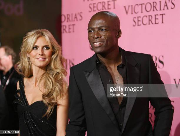 Model Heidi Klum and husband Seal arrives at The 2007 Victoria's Secret Fashion Show held at Kodak Theater on November 15 2007 in Hollywood California
