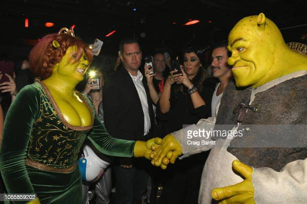 Model Heidi Klum and Musician Tom Kaulitz attend Heidi Klum's 19th Annual Halloween Party Sponsored by SVEDKA Vodka and Party City at Lavo NYC on...