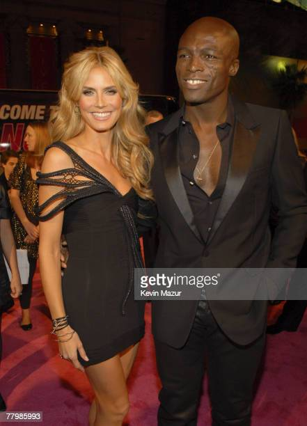 Model Heidi Klum and Singer Seal arrive at the 12th Annual Victoria's Secret Fashion Show at the Kodak Theater on November 15 2007 in Los Angeles