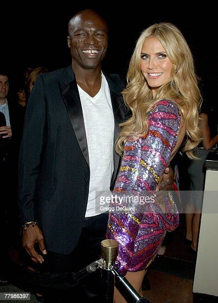 Model Heidi Klum and singer Seal arrive at the 12th Annual Victoria's Secret Fashion Show after party at the Kodak Theatre on November 15 2007 in...