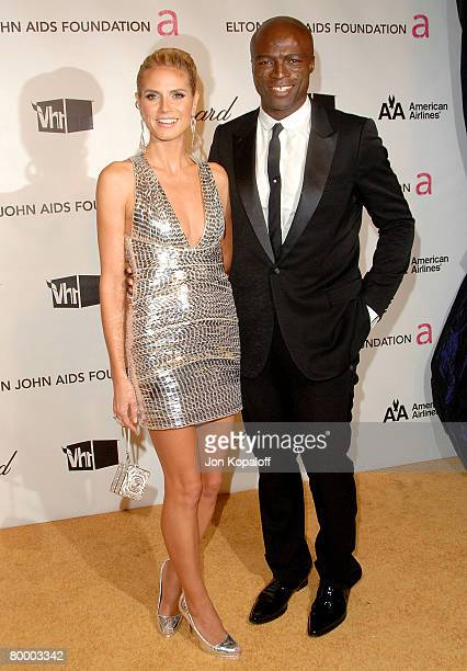 Model Heidi Klum and singer Seal attend the 16th Annual Elton John AIDS Foundation Oscar Party at the Pacific Design Center on February 24 2008 in...