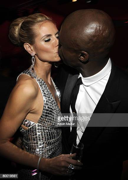 HOLLYWOOD FEBRUARY 24 Model Heidi Klum and Singer Seal attend the 16th Annual Elton John AIDS Foundation Academy Awards viewing party at the Pacific...