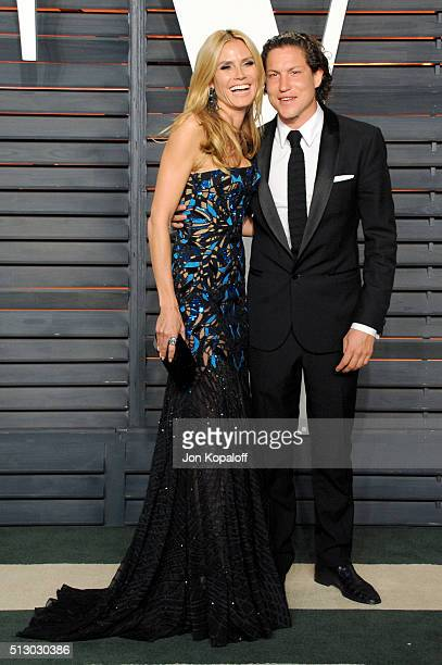 Model Heidi Klum and Vito Schnabel attend the 2016 Vanity Fair Oscar Party hosted By Graydon Carter at Wallis Annenberg Center for the Performing...