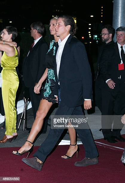 Model Heidi Klum and Vito Schnabel attend The Broad Museum's Inaugural Celebration at The Broad on September 18 2015 in Los Angeles California