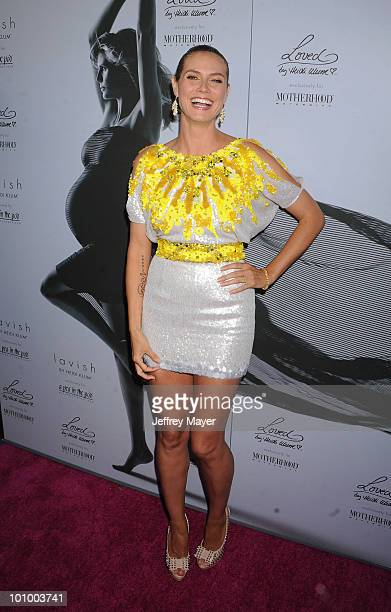 Model Heidi Klum arrives at Heidi Klum's Mom'sToBe Night Out at A Pea In The Pod on May 26 2010 in Beverly Hills California