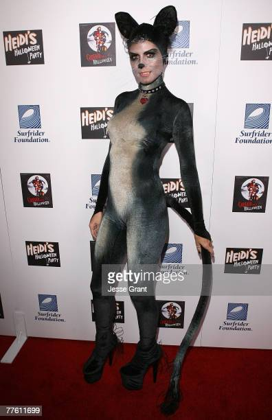 Model Heidi Klum arrives at Her Halloween Party at The Green Door on October 31 2007 in Hollywood California