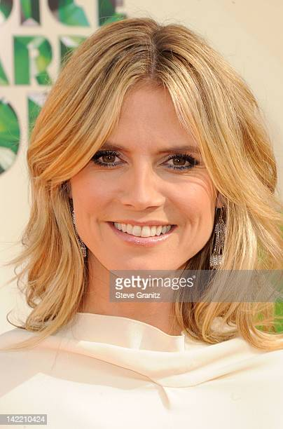 Model Heidi Klum arrives at Nickelodeon's 25th Annual Kids' Choice Awards held at Galen Center on March 31 2012 in Los Angeles California