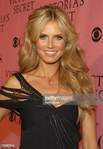 Model Heidi Klum arrives at the 12th Annual Victoria's Secret Fashion Show at the Kodak Theater on November 15 2007 in Los Angeles