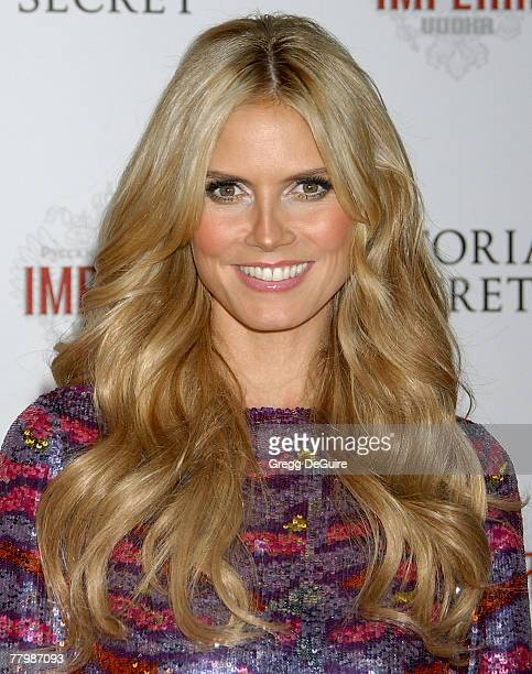 Model Heidi Klum arrives at the 12th Annual Victoria's Secret Fashion Show after party at the Kodak Theatre on November 15 2007 in Hollywood...