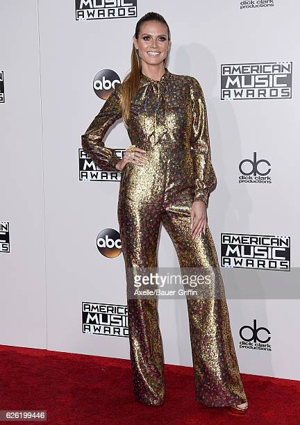 Model Heidi Klum arrives at the 2016 American Music Awards at Microsoft Theater on November 20 2016 in Los Angeles California