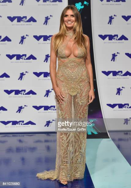 Model Heidi Klum arrives at the 2017 MTV Video Music Awards at The Forum on August 27 2017 in Inglewood California