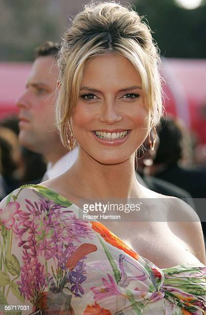 Model Heidi Klum arrives at the 57th Annual Emmy Awards held at the Shrine Auditorium on September 18 2005 in Los Angeles California