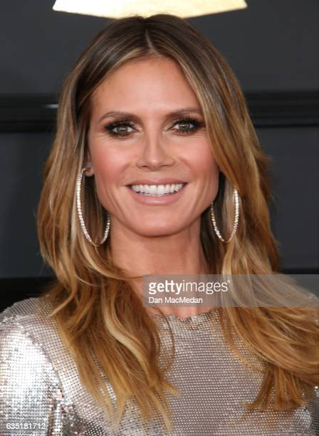 Model Heidi Klum arrives at The 59th GRAMMY Awards at Staples Center on February 12 2017 in Los Angeles California