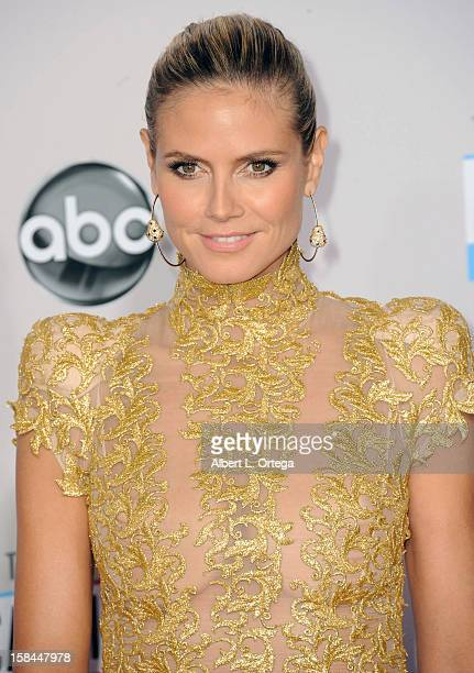 Model Heidi Klum arrives for the 40th Anniversary American Music Awards Arrivals held at Nokia Theater LA Live on November 18 2012 in Los Angeles...