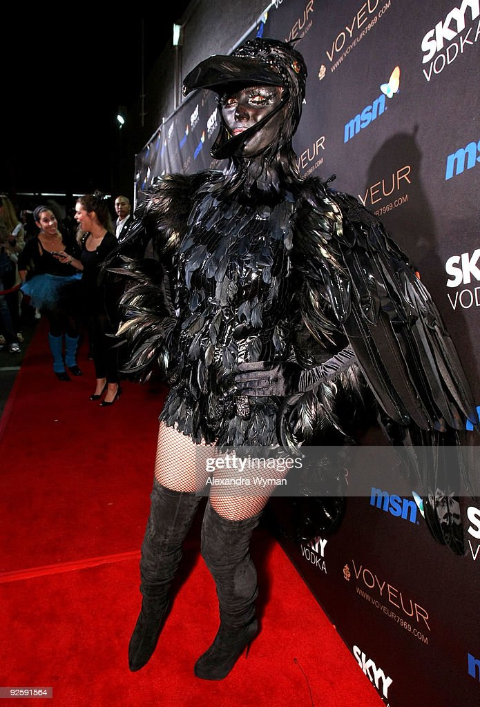 Model Heidi Klum arrives to her 10th Annual Halloween Party Presented by MSN and SKYY Vodka held at the Voyeur on October 31, 2009 in West Hollywood, California.