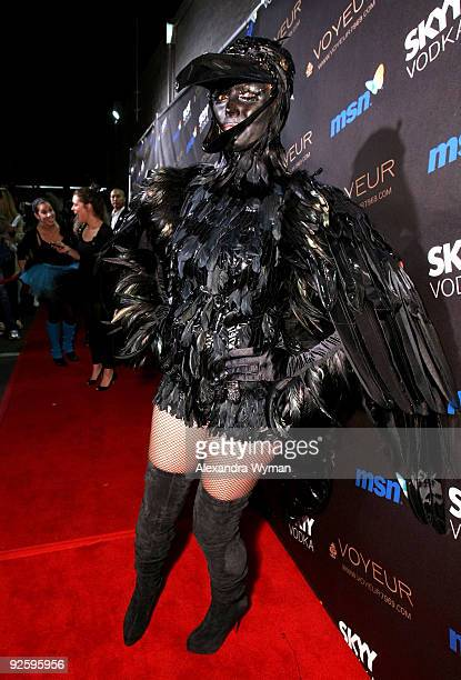Model Heidi Klum arrives to her 10th Annual Halloween Party Presented by MSN and SKYY Vodka held at the Voyeur on October 31 2009 in West Hollywood...