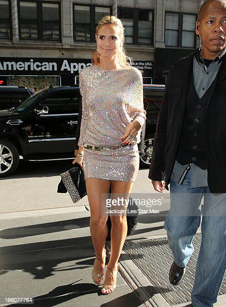 Model Heidi Klum as seen on April 8 2013 in New York City