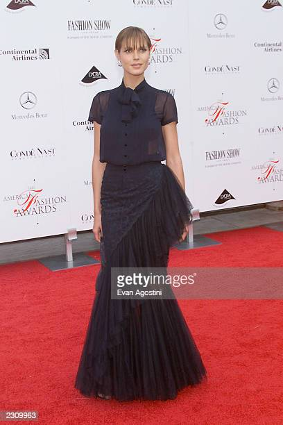 Model Heidi Klum at the 20th Annual American Fashion Awards at Avery Fisher Hall, Lincoln Center in New York City. . Photo: Evan Agostini/Getty Images