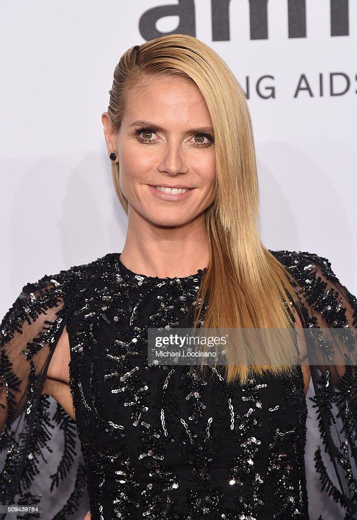 Model Heidi Klum attends 2016 amfAR New York Gala at Cipriani Wall Street on February 10, 2016 in New York City.
