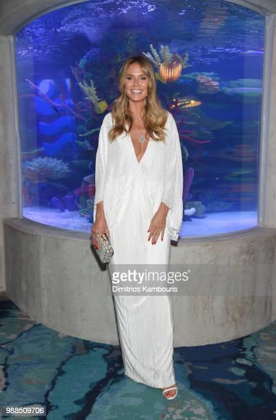 Model Heidi Klum attends a dinner at Ocean Resort Casino on June 30 2018 in Atlantic City New Jersey