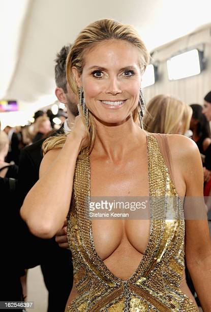 Model Heidi Klum attends Chopard at 21st Annual Elton John AIDS Foundation Academy Awards Viewing Party at West Hollywood Park on February 24 2013 in...