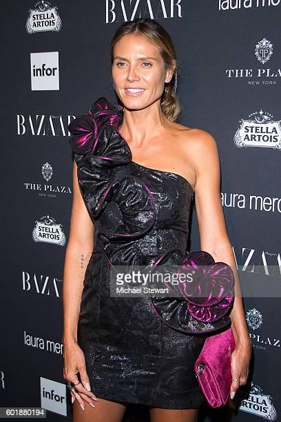 "Model Heidi Klum attends Harper's BAZAAR Celebrates ""ICONS By Carine Roitfeld"" at The Plaza Hotel on September 9, 2016 in New York City."