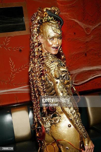 Model Heidi Klum attends Heidi Klum's Haunted Halloween Bash at LQ sponsored by CMA North America on October 31 2003 in New York City