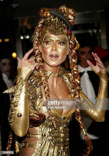 Model Heidi Klum attends Heidi Klum's Haunted Halloween Bash at LQ sponsored by CMA North America on October 31 2003 in New York City
