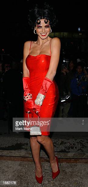 Model Heidi Klum attends her 3rd annual Halloween Party at Capitale November 1 2002 in New York City