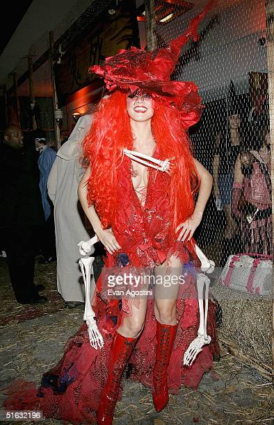 Model Heidi Klum attends her 5th Annual Halloween party at Marquee on October 31 2004 in New York City