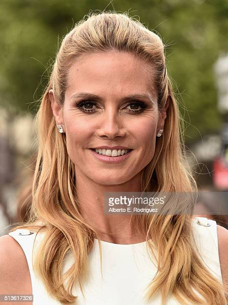 Model Heidi Klum attends NBC's 'America's Got Talent' Season 11 Kickoff at Pasadena Civic Auditorium on March 3 2016 in Pasadena California