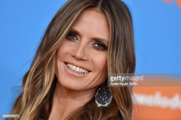 Model Heidi Klum attends Nickelodeon's 2018 Kids' Choice Awards at The Forum on March 24 2018 in Inglewood California
